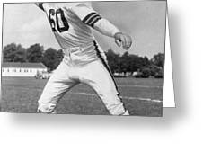 Otto Graham NFL Legend Poster Greeting Card by Gianfranco Weiss