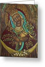Our Lady Gate Of Dawn Greeting Card by Marie Howell Gallery