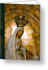 Our Lady Of Fatima Greeting Card by Gaspar Avila
