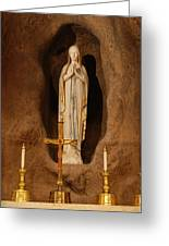 Our Lady Of Lourdes Greeting Card by Philip Ralley