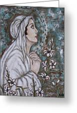 Our Lady Of Mental Peace Greeting Card by Rain Ririn