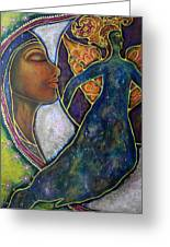 Our Lady Of Moonlit Mysteries Greeting Card by Marie Howell Gallery