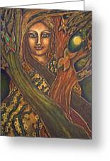 Our Lady Of The Shimmering Wildwood Greeting Card by Marie Howell Gallery