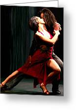 Our Tango Greeting Card by James Shepherd