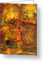 Out Back In His Workshop Greeting Card by Angela L Walker