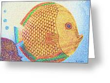 Out For A Sunday Swim Greeting Card by Barbara Drake