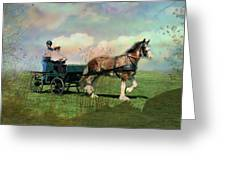 Out For A Trot Greeting Card by Shirley Sirois