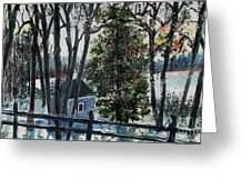 Out Of The Woods At Walden Pond Greeting Card by Rita Brown