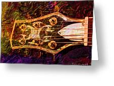 Out Of Tune Digital Guitar Art By Steven Langston Greeting Card by Steven Lebron Langston