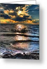 Outer Banks - Radical Sunset On Pamlico Greeting Card by Dan Carmichael