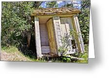 Outhouse For Two Greeting Card by Sue Smith