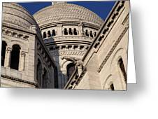 Outside the Basilica of the Sacred Heart of Paris - Sacre Coeur - Paris France - 011310 Greeting Card by DC Photographer