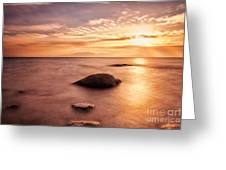Over the sea to Arran Greeting Card by John Farnan