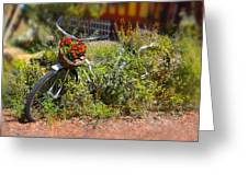 Overgrown Bicycle With Flowers Greeting Card by Mike McGlothlen