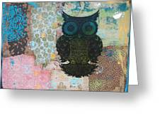Owl Of Style Greeting Card by Kyle Wood