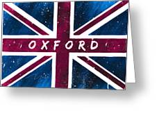 Oxford Distressed Union Jack Flag Greeting Card by Mark Tisdale