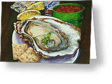 Oyster And Crystal Greeting Card by Dianne Parks
