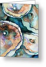 Oyster Greeting Card by Carol Shamrock