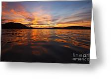 Ozark Sunset Greeting Card by Dennis Hedberg