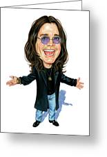 Ozzy Osbourne Greeting Card by Art