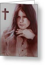 'ozzy Osbourne' Greeting Card by Christian Chapman Art
