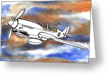 P-40 Warhawk 1 Greeting Card by Scott Nelson