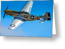 P-51 Mustang Break Out Roll Greeting Card by Puget  Exposure