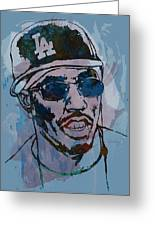 P Diddy - Stylised Etching Pop Art Poster Greeting Card by Kim Wang