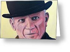Pablo Picasso Greeting Card by Tom Roderick