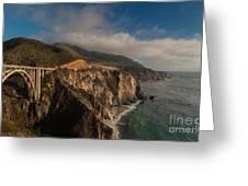 Pacific Coastal Highway Greeting Card by Mike Reid