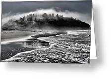 Pacific Island Fog Greeting Card by Adam Jewell