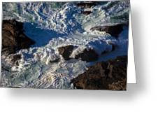 Pacific Ocean Against Rocks Greeting Card by Garry Gay