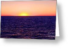Pacific Sunset Off Laguna Beach Greeting Card by Bob and Nadine Johnston