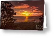 Pacific Sunset Greeting Card by Robert Bales