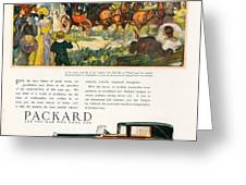 Packard 1930 1930s Usa Cc Cars Horses Greeting Card by The Advertising Archives