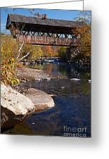 Packard Hill Bridge Lebanon New Hampshire Greeting Card by Edward Fielding
