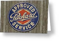 Packard Sign Greeting Card by Bill Jonas