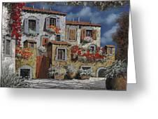 Paesaggio Al Chiar Di Luna Greeting Card by Guido Borelli