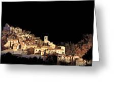 Paesaggio Scuro Greeting Card by Guido Borelli
