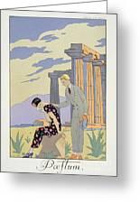Paestum Greeting Card by Georges Barbier