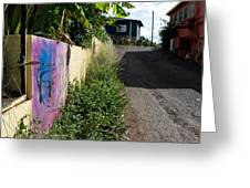 Paia Alleyway Greeting Card by Matt Radcliffe