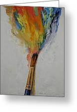 Paint Greeting Card by Michael Creese
