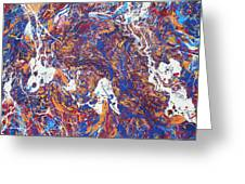 Paint Number Five Greeting Card by Ric Bascobert