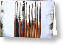 Paintbrushes Greeting Card by Bernard Jaubert