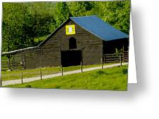 Painted Barn Quilt Two Greeting Card by Robert J Andler