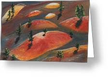 Painted Dunes Greeting Card by Anastasiya Malakhova
