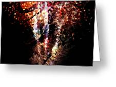 Painted Fireworks Greeting Card by Andrea Barbieri