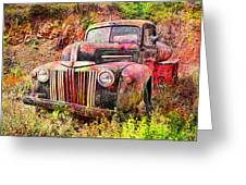 Painted Ford Greeting Card by Robert Jensen