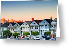 Painted Ladies Greeting Card by Bill Gallagher