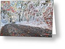 Painted Snow Greeting Card by Catherine Reusch  Daley
